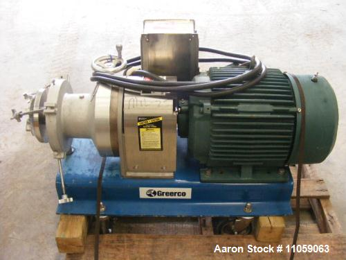 Used- Greerco, Model W750H Horizontal In-Line Colloid Mill