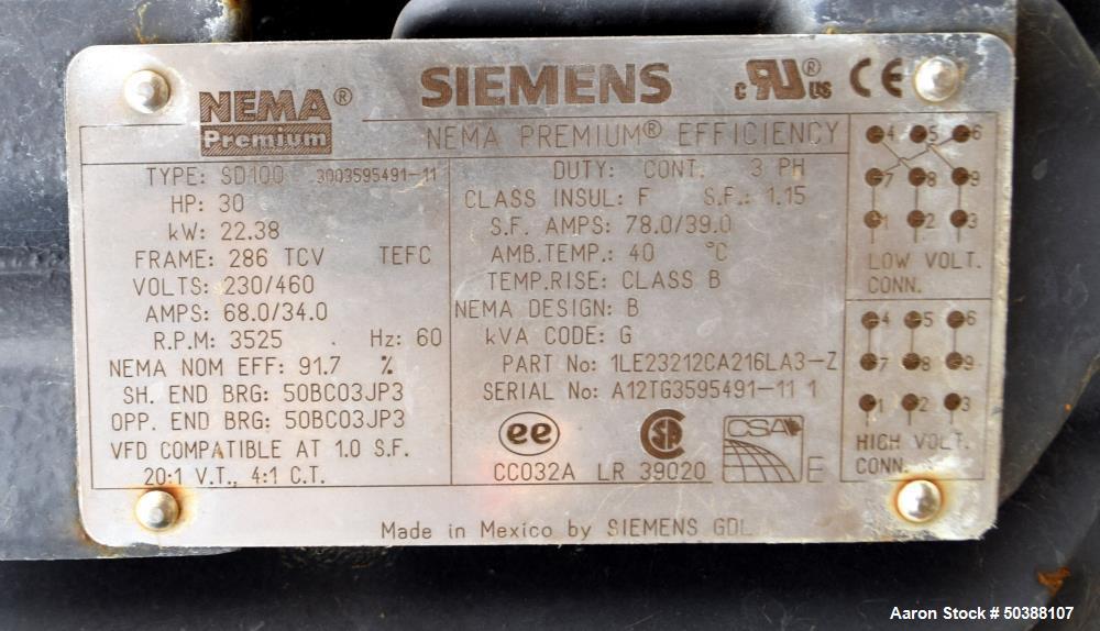 Used- IKA Works Dispax Reactor High Shear Inline Disperser, Model DR 2000/10