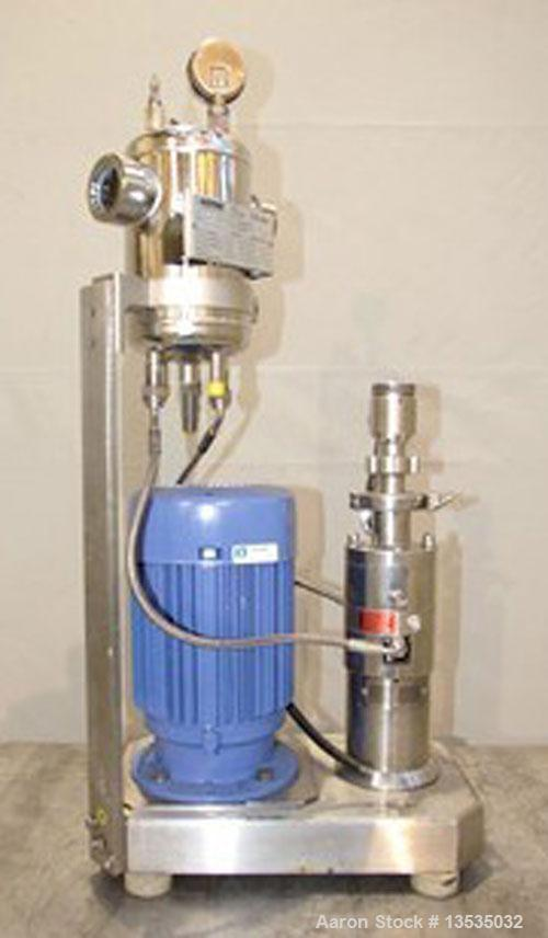 Used-IKA Pilot Process 2000/4 Continuous Colloid Mill, stainless steel.  5.5 hp/4 kW motor, 2910 rpm, 220/380V, 50 hz. Gearb...