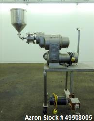 "Colloid Mill, 316 Stainless Steel. Approximate 5-1/2"" diameter chamber. Dual (40) pin rotor. Driven..."