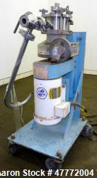 Greerco Vertical Colloid Mill, Model W250VB, 316 Stainless Steel. Jacketed stator housing. Rated ap...