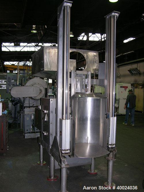 Used- Fitzpatrick Fitzmill, Model DASO6, stainless steel. (16) double impact fixed blades, driven by an approximatetly 7.5hp...
