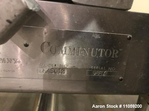 Used- Fitzmill Comminutor Hammer Mill