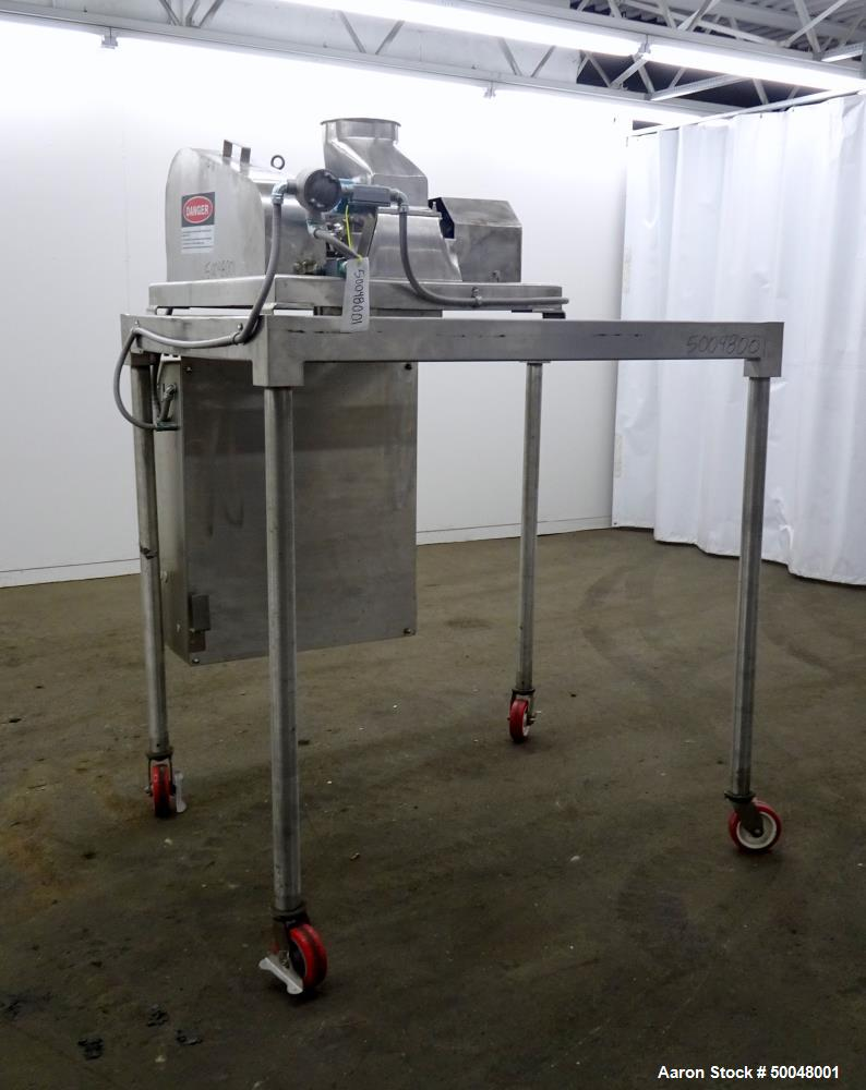 Used- Fitzpatrick Fitzmill, Model DASO6, 316 Stainless Steel.