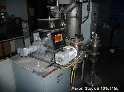 Used-Alpine Model 100 AFG Stainless Steel Fluidized Bed Opposed Jet Milling System.  Stainless steel contacts.  Includes K-T...