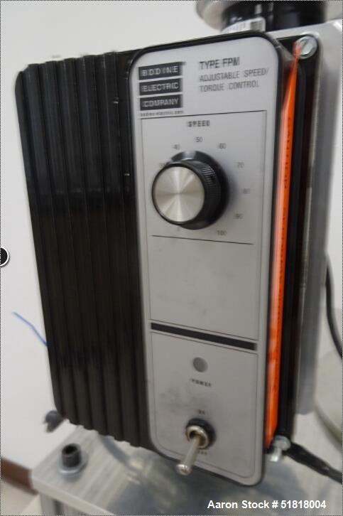 Used-Custom Mill w/ Bodine Electric 1/6-1/3-HP DC Motor & Type FPM Adjustable Speed/Torque Control. No manufacturers tag.
