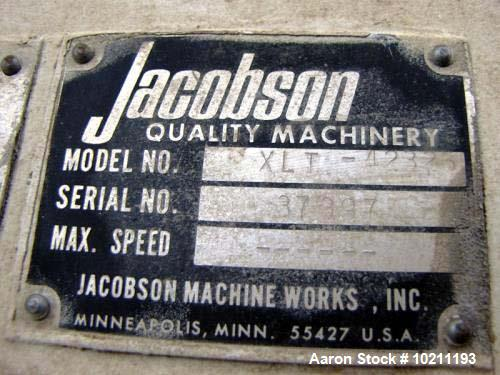 "Used- Jacobson Full Circle Hammermill, Model XLT-42326. Top gravity flanged inlet, 10"" wide x 20.5"" long. High capacity for ..."