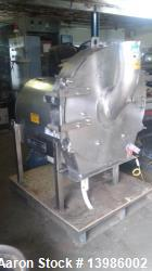 Munson Attrition Mill, Model SK-30-SS. Stainless steel. 30 hp motor, 460 volt, 3 phase, 60 cycle.