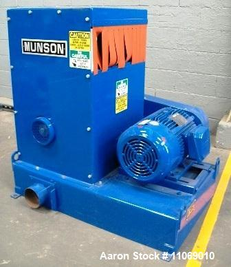 "Used-Munson Hammer Mill, Model SCC-15-MS.  Heavy block shaving machine, 15"" long x 9"" width screen, 20 hp, 208-460V, 3 phase."