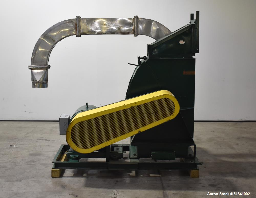 Used-Sprout Waldron Hammer Mill, Type 14-CG-2, 40 HP, Carbon steel. s/n 947.