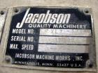 Used- Jacobson Full Circle Hammermill, Model XLT-42326. Top gravity flanged inlet, 10