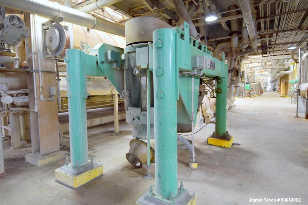 "Used- Fluid Quip Horizontal Rotor Impact Mill, Model FQ-IM40H, Stainless Steel. Approximate 48"" diameter rotor, dual top inf..."