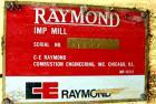 Used- Raymond Air Swept Swing Hammer Impact Mill, Carbon Steel. 6