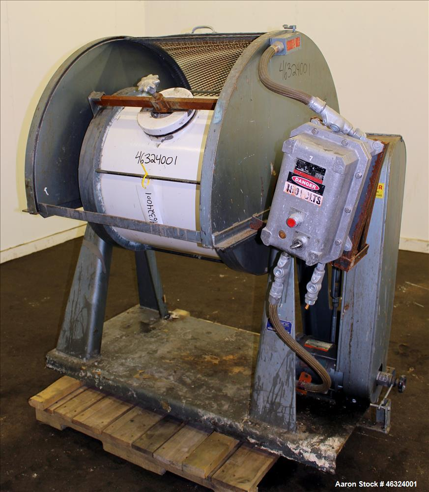 Used- Paul O. Abbe One Piece Ceramic Ball Mill, Model 5A. Total volume 35.30 gal