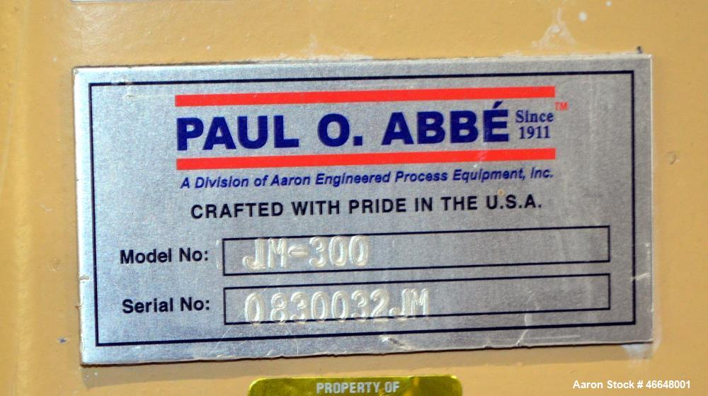 Used- Paul O. Abbe One Piece Ceramic Ball Mill, Model JM-300