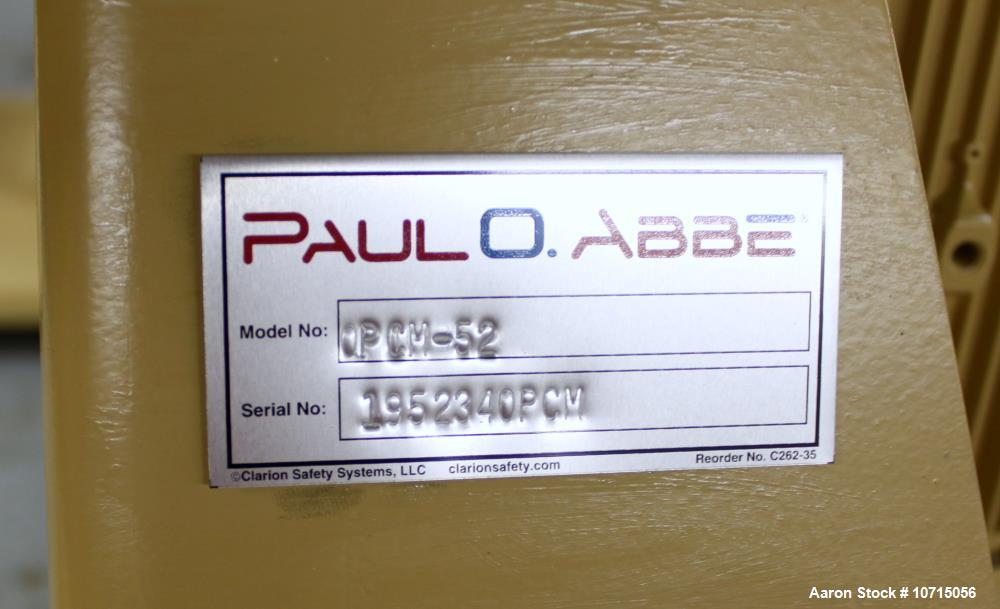 Unused- Paul O Abbe One Piece Ceramic Ball Mill, Model OPCM 52