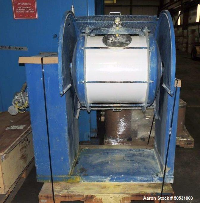 Used- US Stoneware Ceramic Ball Mill, Approximate 52 Gallon, 7 Cubic Feet.
