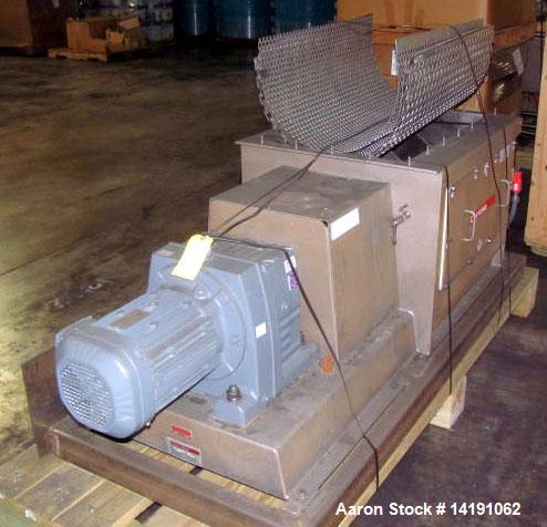 Used- Gericke 316L Nibbler Low-Speed Deagglomerator, Model #N400x800. 7.5hp SEW motor. 460V/3ph/60Hz TEFC. 65rpm. Main shaft...