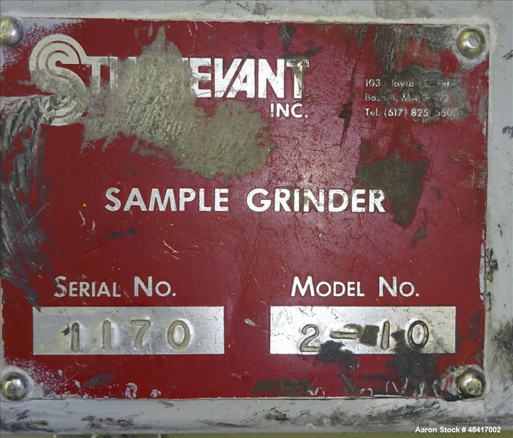 Used- Sturtevant Sample Grinder, Model 2-10