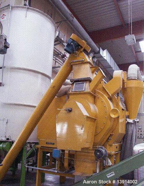 Used-Amut Pellet Mill/Compactor, type FTP540, carbon steel. Working capacity between 440-880 lbs (200-400 kgs) per hour. App...
