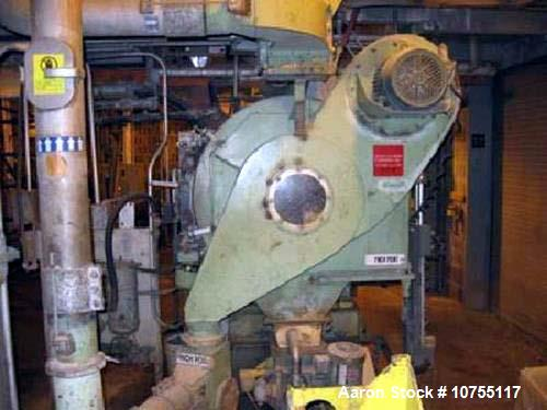 "Used- California 7000 Series Carbon Steel Pellet Mill, Model 7022-2. (2) 10"" diameter x 6"" face rollers, approximate 22.5"" d..."