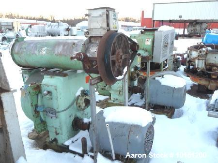 "Used- CPM 2-Roll Pellet Mill with 2 hp varispeed stainless steel feeder.  15 Hp carbon steel paddle mixer.  3/8"" Holes on di..."
