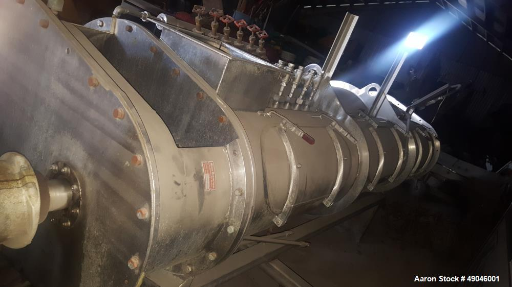 Used- Wenger Horizontal Twin Shaft Differential Diameter Cylinder Preconditioner