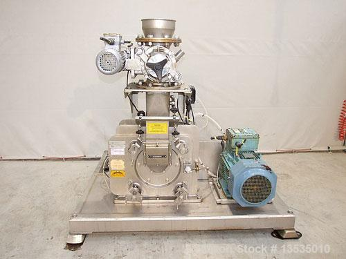 Used-KEK 4 HM Mill, stainless steel, speed 7500 rpm, 15 hp motor 220/380 volts. Mounted on a stainless steel frame. Inlet 7....