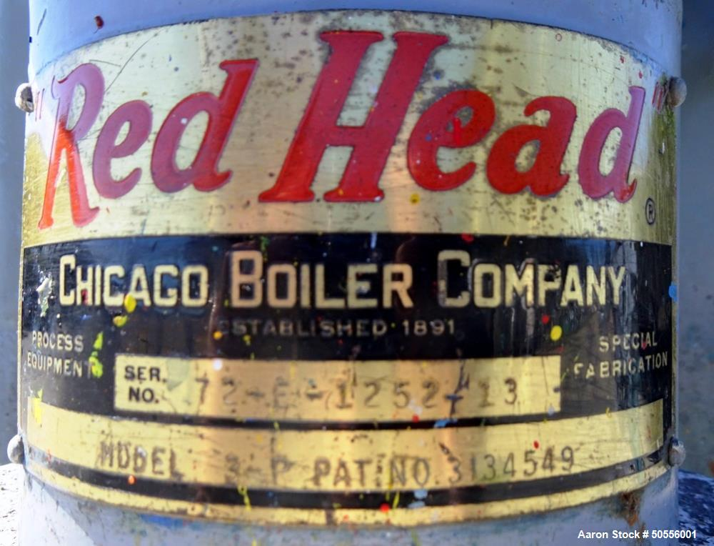 """Used- Chicago Boiler """"Red Head"""" Model 3-P Vertical Grinding Mill."""