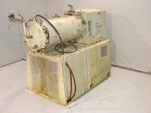 """Used-Drais PM 250 TEX Stainless Steel Pearl Mill. 66 gallon (250 liter) capacity, jacketed, chamber size 19.6"""" diameter x 50..."""