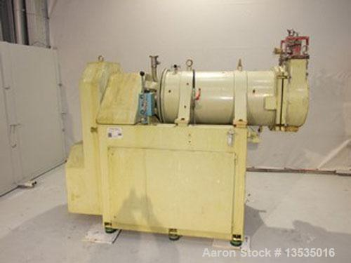 """Used-Dyno-Mill KD200 C Bead Mill. Stainless steel, jacketed, 53 gallons (200 liters) capacity, chamber size 19"""" diameter x 4..."""