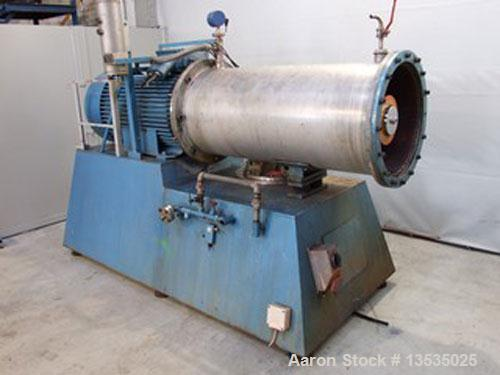 Used-Eiger Torrance 250LSSE TFV Bead Mill. Stainless steel, 66 gallons (250 liters) capacity, 100 hp/75 kW, 590 rpm, 380/3/5...