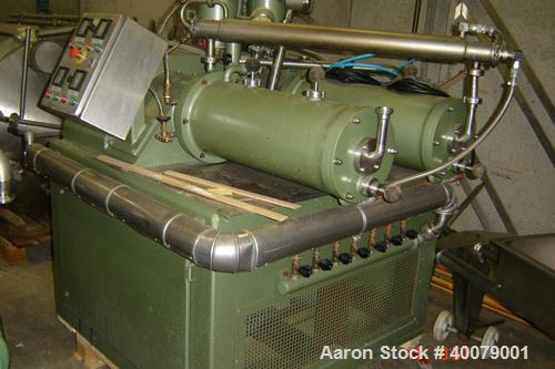 Unused-Rebuilt: Netzsch Horizontal Double Pearl Mill, type LME20T. Material of construction is stainless steel on product co...