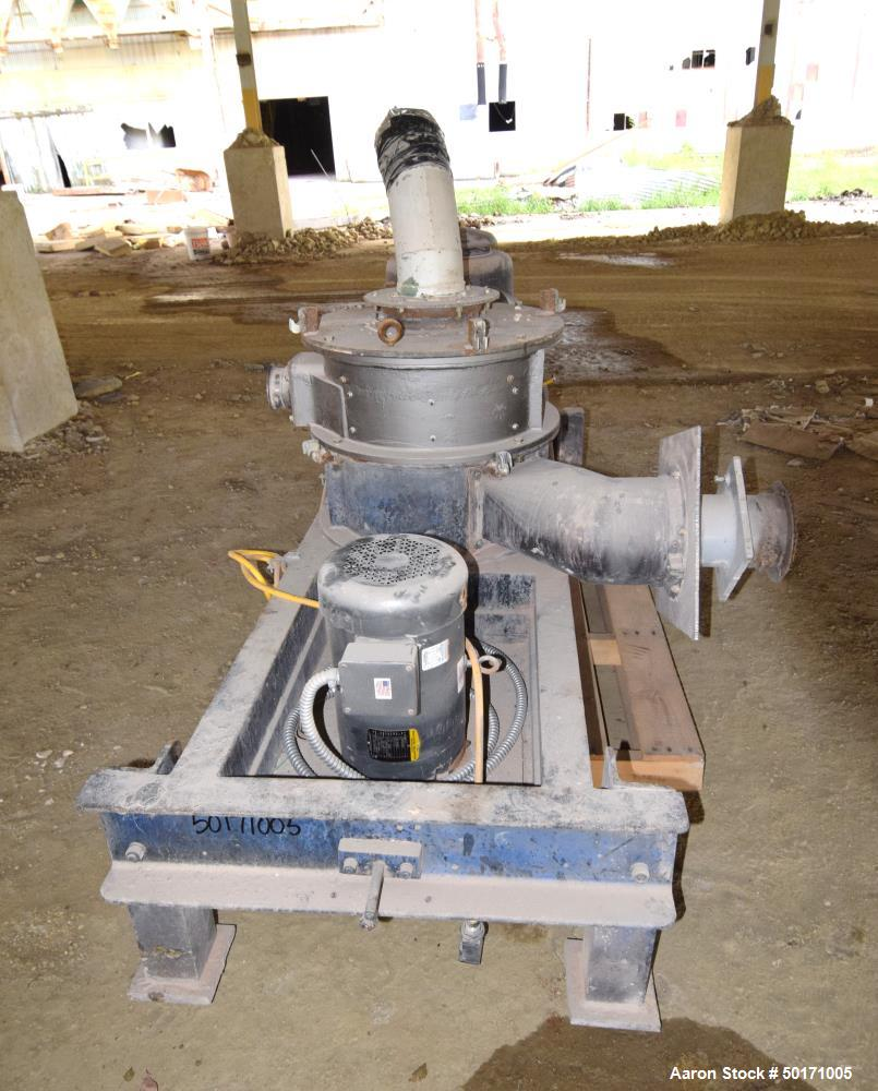 """Used- Mikro Air Classifying Mill, Model CX30ACM, Carbon Steel. Approximate 30"""" diameter grinding chamber. Rotor speed 4600 r..."""