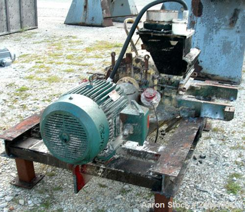 """Used- Mikro Pulverizer, Model 3TH, Carbon Steel. 14"""" Diameter x 14"""" wide rotor with approximate 14 rows of 4 swinging stirru..."""