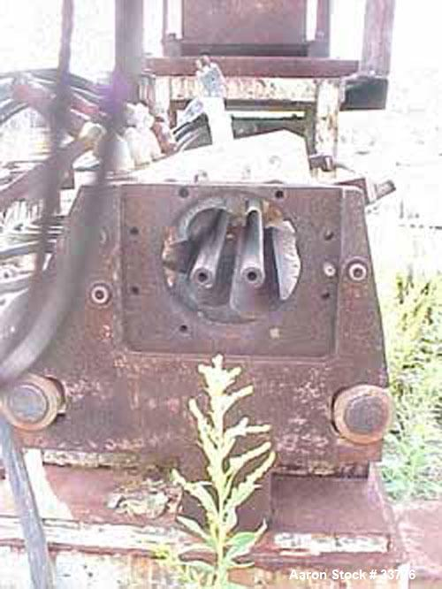 Used: Baker Perkins carbon steel twin screw extruder