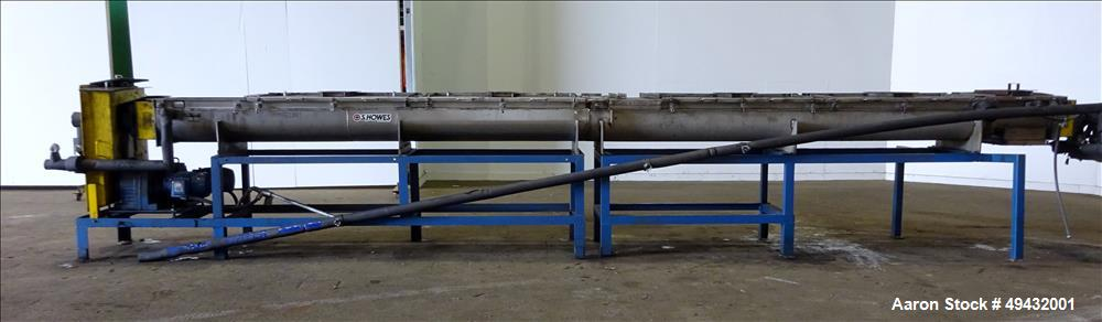 Used- S. Howes Jacketed Cooling Conveyor, Model 9TS12-J
