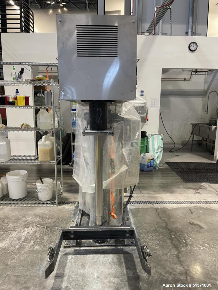 Used- MixerDirect 10 HP Dual Shaft Disperser With 50 Gallon Vessels