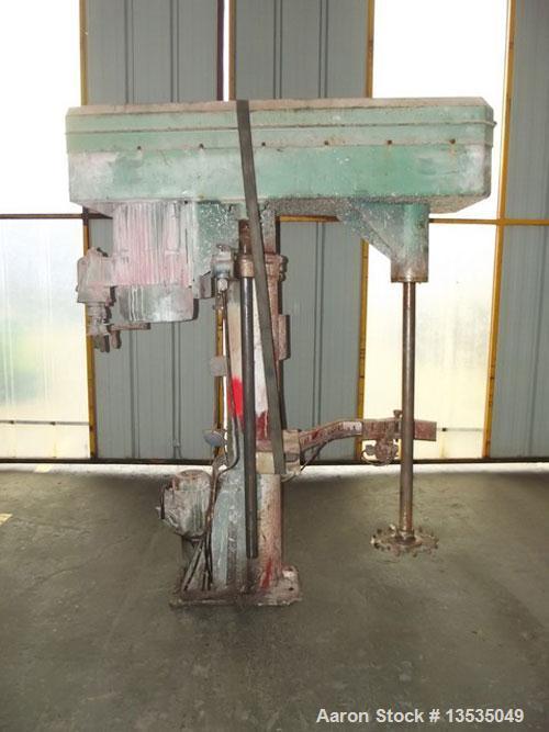 "Used-Grenier Charvet PR300 Dissolver, lift with hydraulic device, shaft diameter 2.36"" (60 mm), shaft length 48.4"" (1230 mm)..."