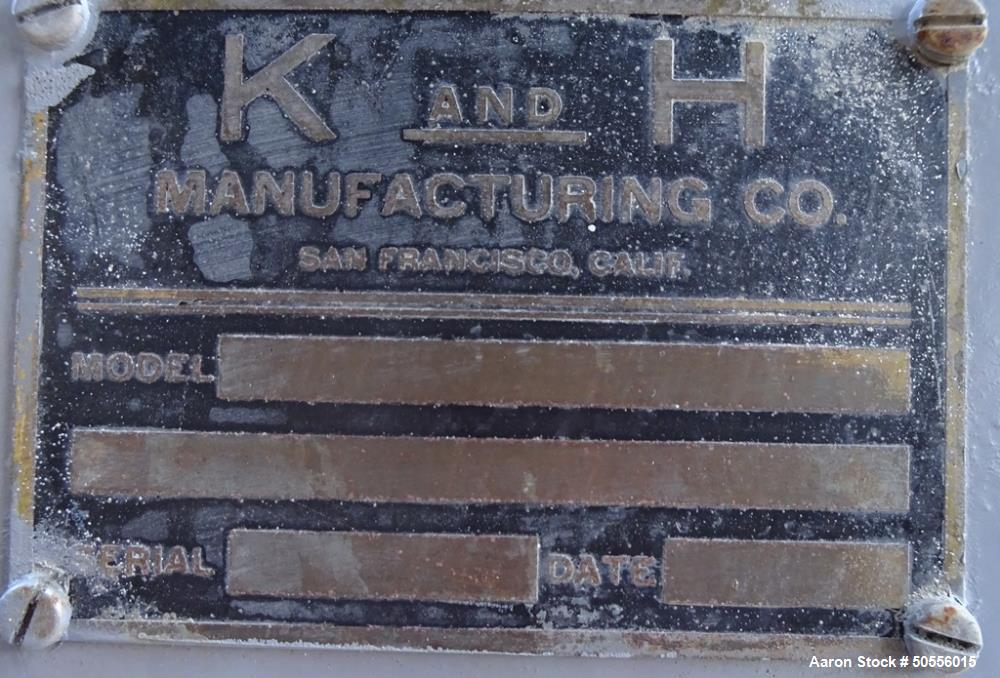 Used-  K & H Manufacturing Post-Type Mixer.