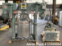 Used- Meyers Tri-Shaft Series 375 Liter (100 Gallon) Combination Disperser-Mixer