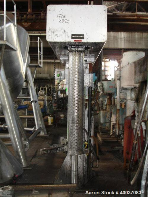 """Used- Morehouse Cowles Dissolver, Model V 38-40. 3"""" diameter x 36"""" long 316 stainless steel shaft, no blade. Includes dust h..."""