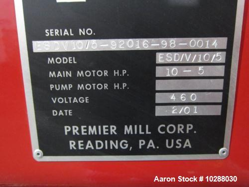 Used-Premier Dual Shaft Vacuum High Speed Disperser, Model ESD/V/10/5