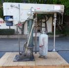 Used-Mooney Dispersion mixer, 10 HP, with stainless steel shaft and dispersion blade, Driven by 10 HP, 230/460V, 1750 RPM, 3...