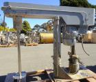 Used-Myers Dispersion mixer, 25 HP, with stainless steel shaft and dispersion blade, set up for air-over-hydraulic lift. Ser...