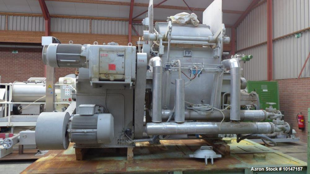Used AMK Mixer/Extruder, Model VIU450, Stainless steel construction on product contact parts. 119 gallon (450 liter) working...