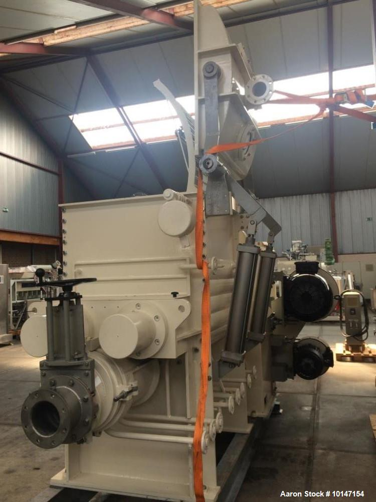 Used- AMK Mixer/Extruder, Model VIU630IV. Carbon steel construction on product contact parts. 169 gallon (630 liter) working...