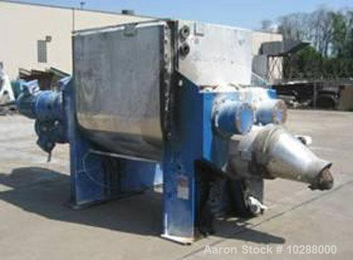 Used-Jaygo mixer/extruder, 400 gallon working capacity, model MXE 1600L. Total capacity 575 gallons, 400 gallon working capa...