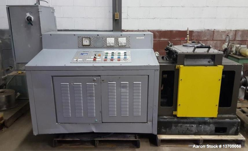 Used- 15 Gallon Jacketed, Vacuum, Sigma Blade Mixer/ Extruder.