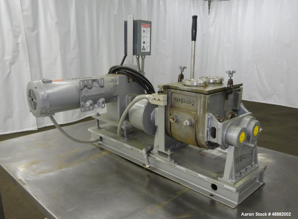 Used- Aaron Process Equipment Lab Batch Double Arm Sigma Mixer. Model LNG1B